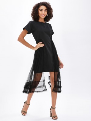KOOVS Dress With Mesh Flare...