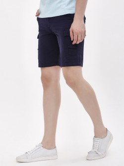 Blue Saint Slim Fit Shorts With Cargo Pockets