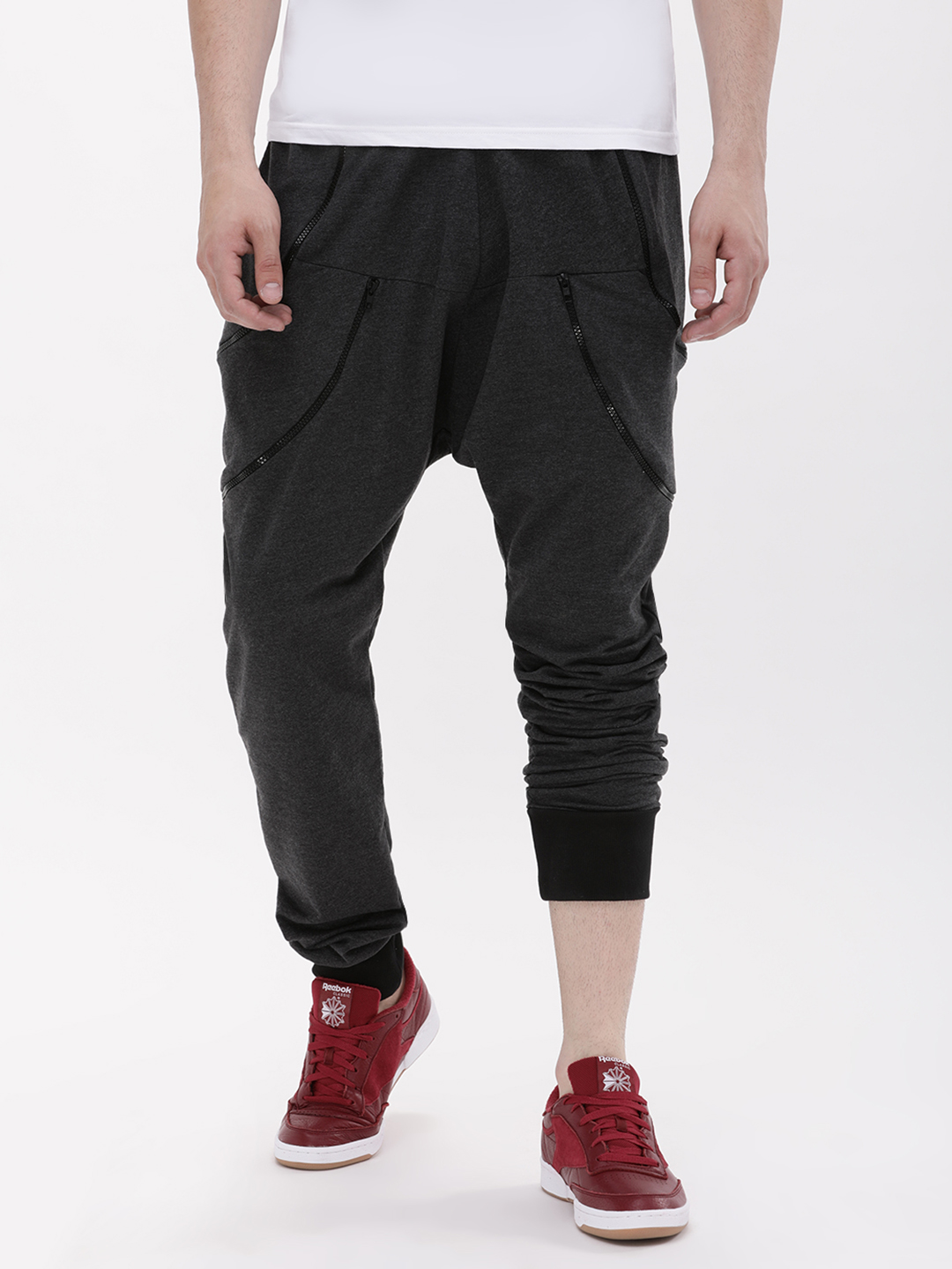 Fighting Fame Black Functional Joggers With Dual Zippers 1