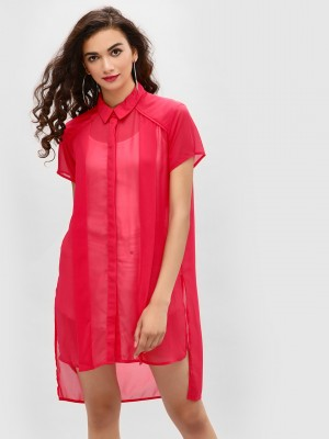 KOOVS Basic High Low Shirt...