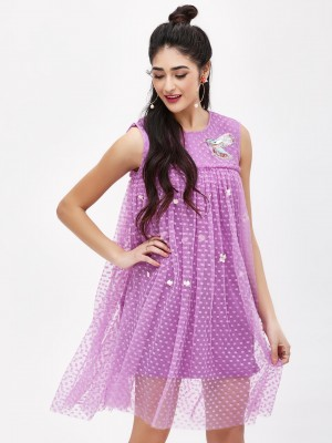 KOOVS Hummingbird Mesh Dress...