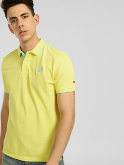Being Human Contrast Rib Pique Polo Shirt
