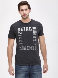Being Human Crew Neck Slub T-Shirt
