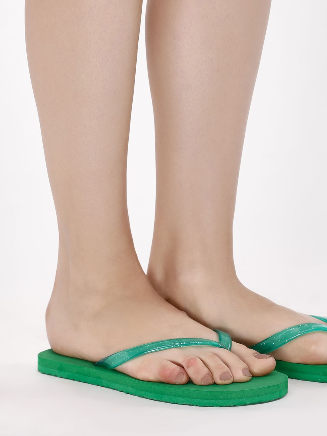 KOOVS Green Toe Post Flip Flops 1
