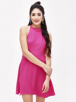 KOOVS Halter Neck Mini Dress