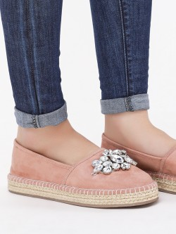 KOOVS Espadrilles With Gem Detail