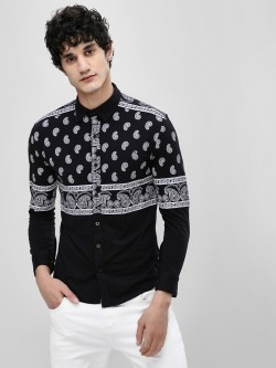 Fighting Fame Paisley Print Jersey Shirt