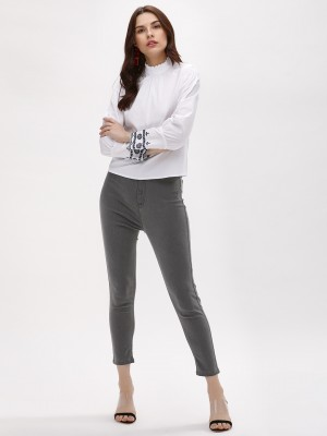 K DENIM Skinny Fit Cropped Jeg...