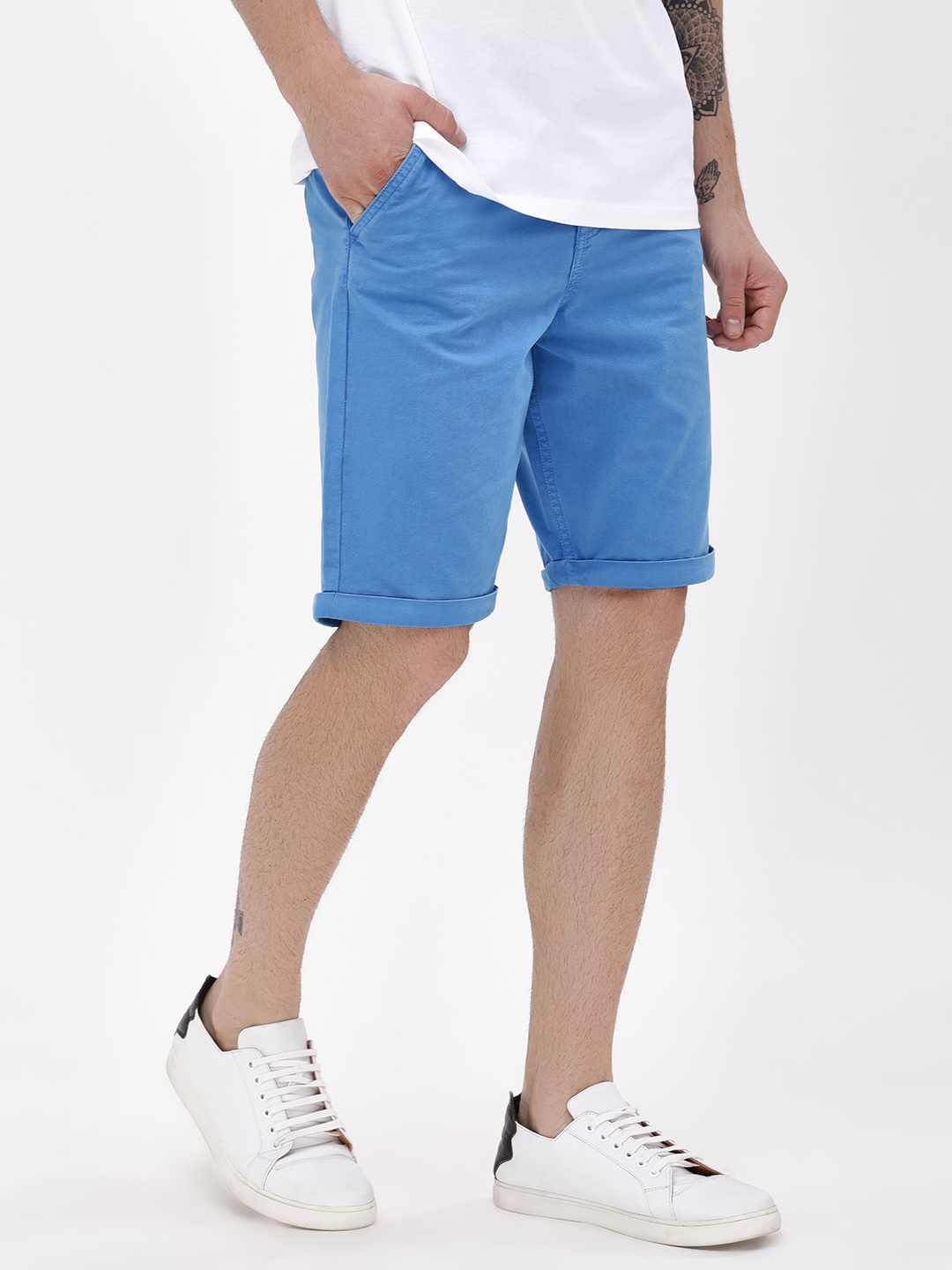 Blue Saint Ragatta Overdyed Shorts With Rolled Hem 1