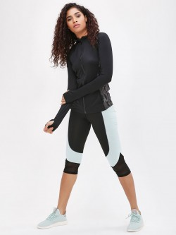 K ACTIVE KOOVS  Contrast Panel Cropped Leggings