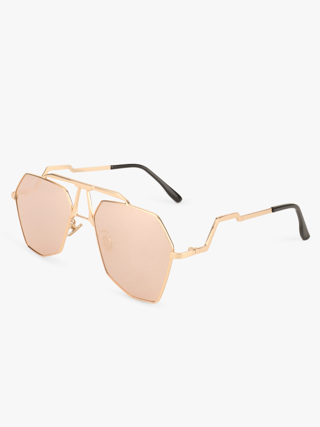 Style Fiesta Pink Retro Tinted Brow Bar Sunglasses 1