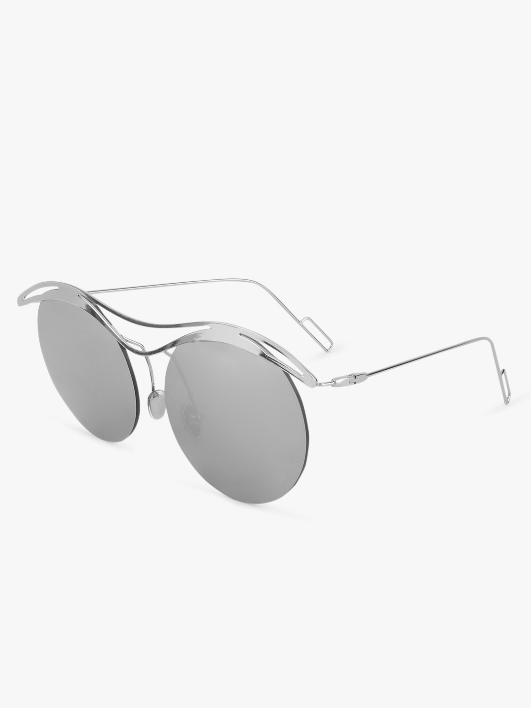Style Fiesta Silver Double Bridge Retro Sunglasses 1