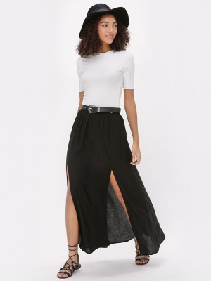 KOOVS High Slit Maxi Skirt...