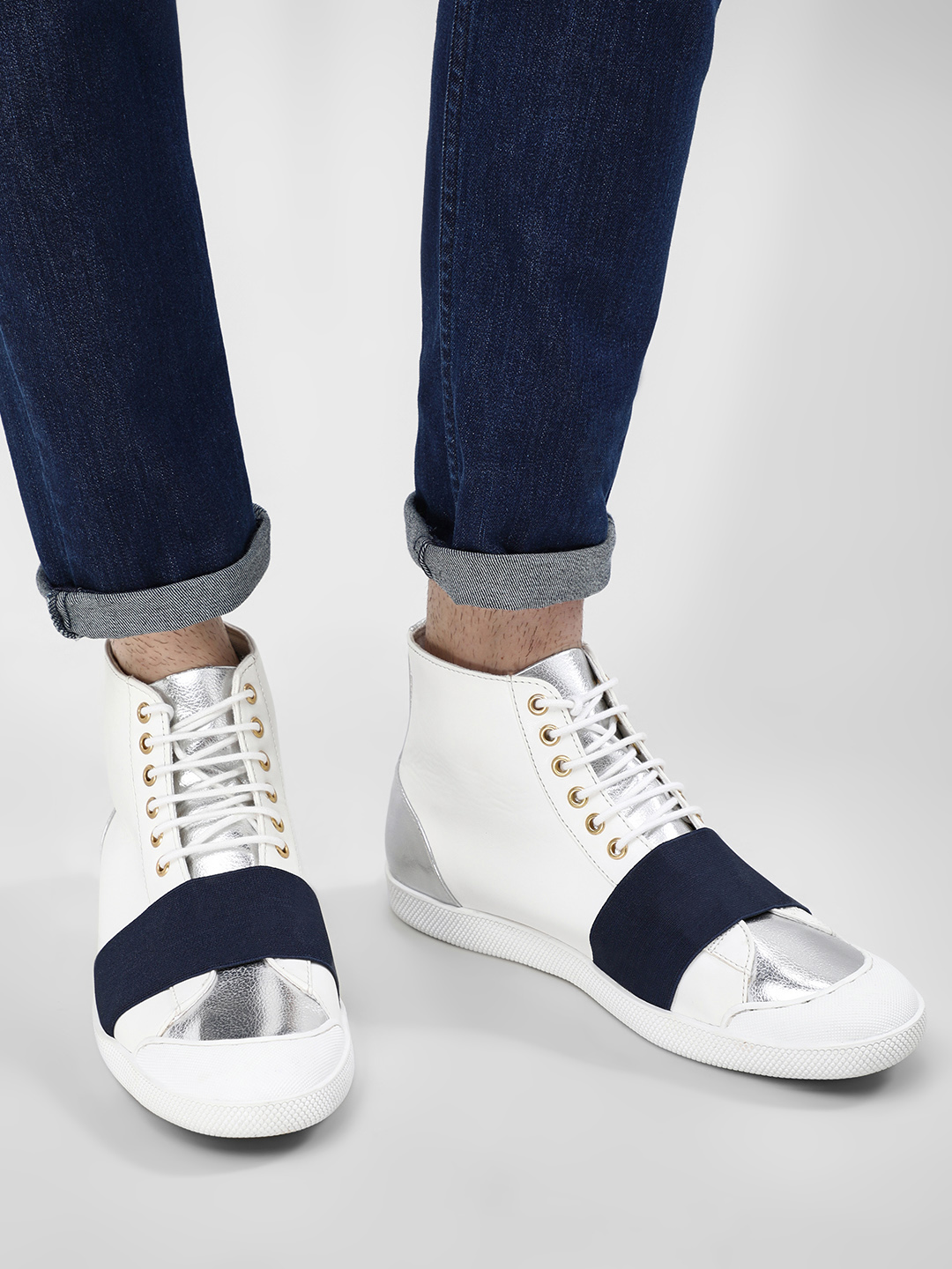 KOOVS White Boxing Boot Hi-Top Shoes 1