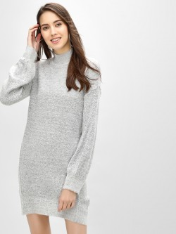 Brave Soul Turtle Neck Shift Dress