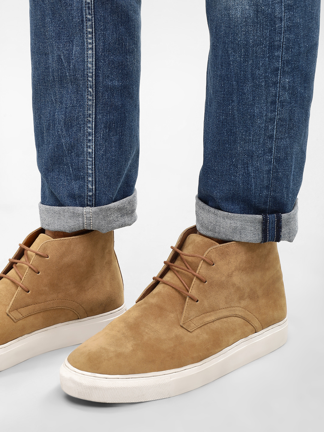 KOOVS Tan Suede Leather Desert Boots 1