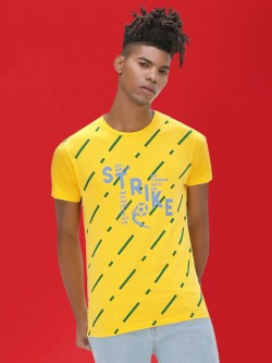 KOOVS Slogan Printed Football T-Shirt