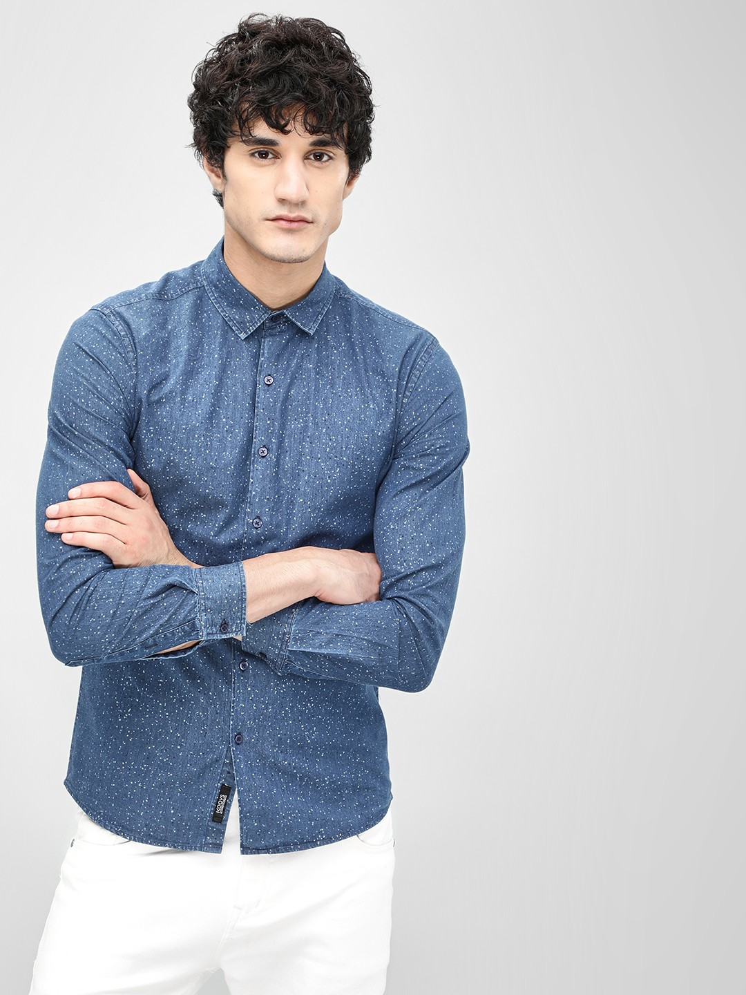 KOOVS Multi Splatter Print Slim Shirt 1