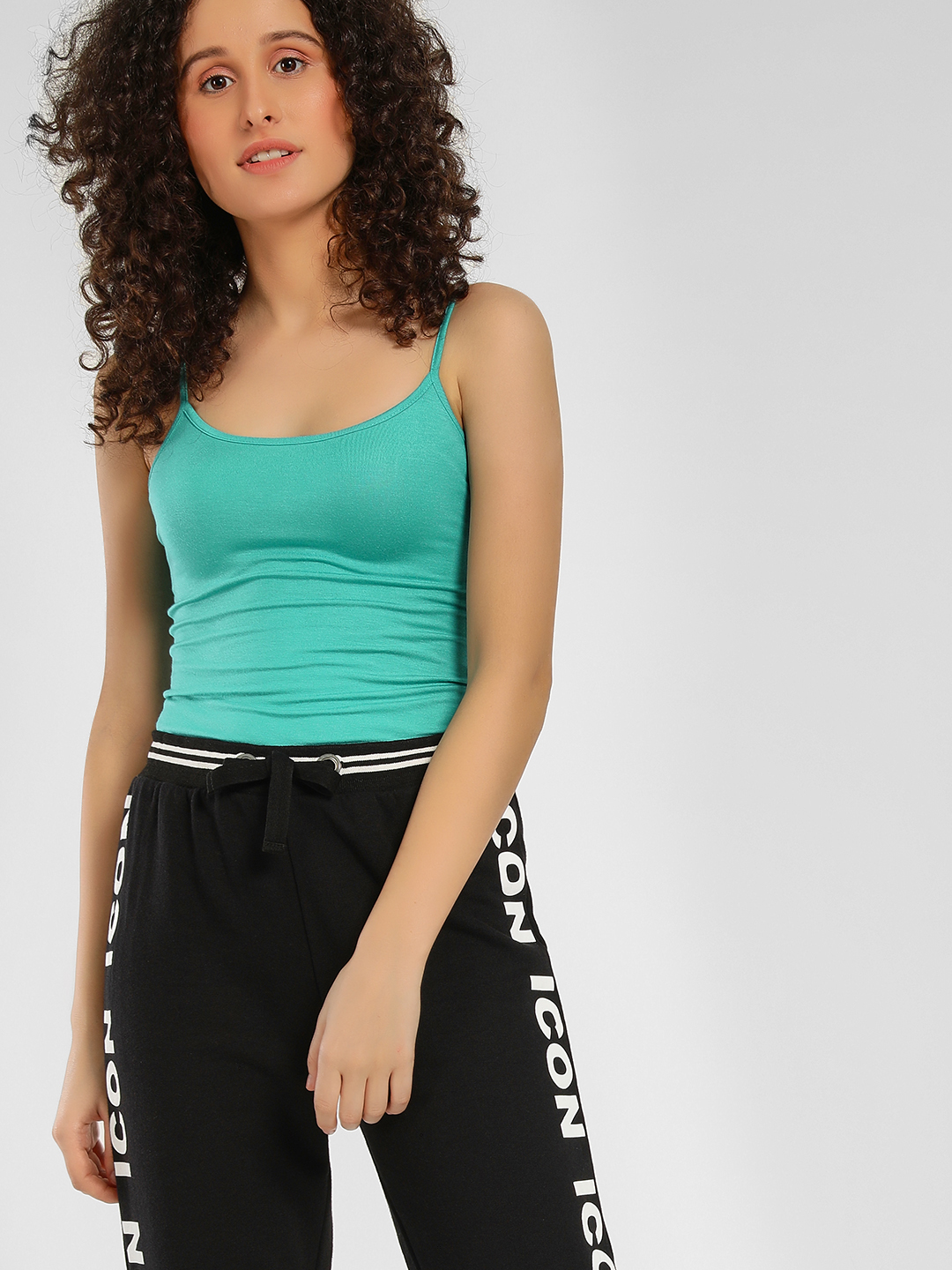KOOVS Teal Basic Strappy Cami Top 1