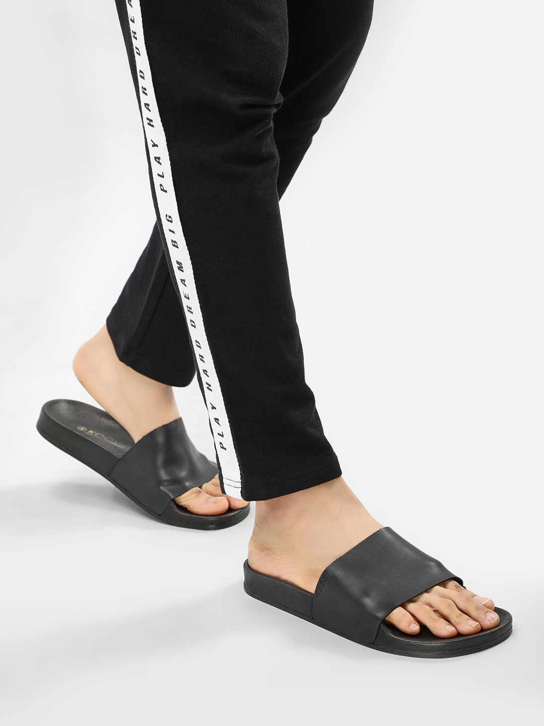 KOOVS Black Basic Pool Sliders 1