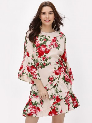 MIWAY Floral Printed Ruffle He...