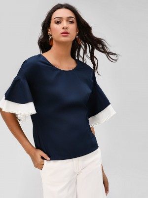 POSTFOLD Ruffle Sleeve Top...