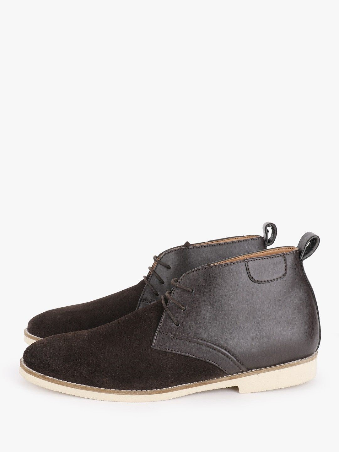 Griffin Brown Panel Detail Suede Leather Boots 1