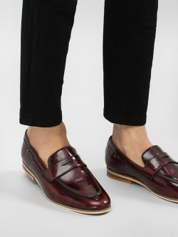 Griffin Two-Tone Burnished Loafers