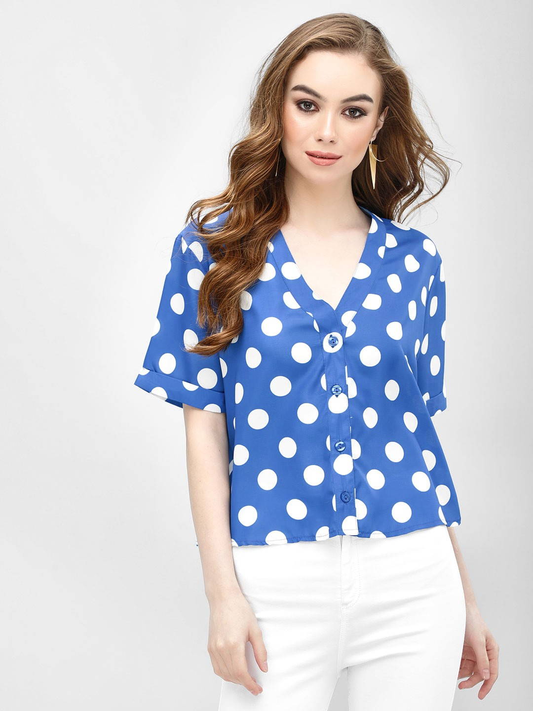 KOOVS Multi Polka Dot Button Shirt 1