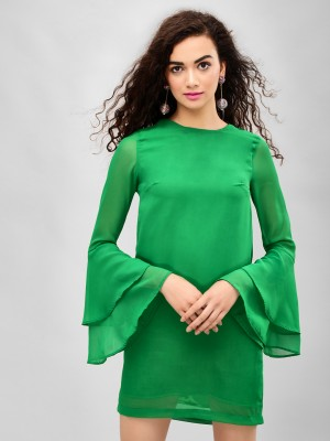 KOOVS Bell Sleeve Shift Dress...