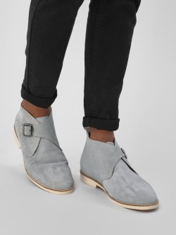 Griffin Suede Overlap Ankle Boots