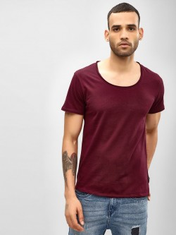KOOVS Basic Scoop Neck T-Shirt