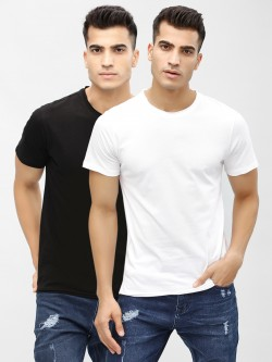 KOOVS Basic Crew Neck T-Shirt (Pack Of Two)