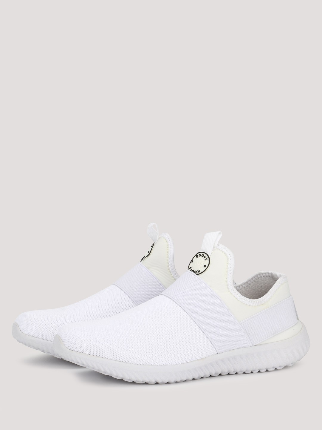 KOOVS White Strap Overlay Trainers 1