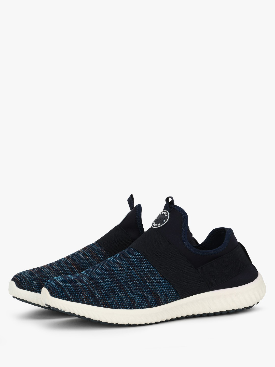 KOOVS Navy Strap Overlay Trainers 1