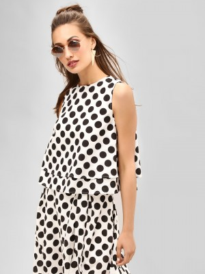 KOOVS Polka Dot Swing Top...