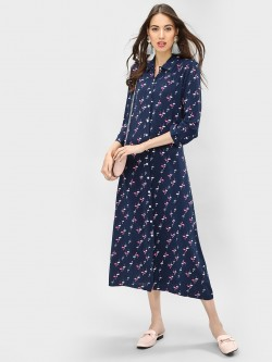 Spring Break Flamingo Print Shirt Dress