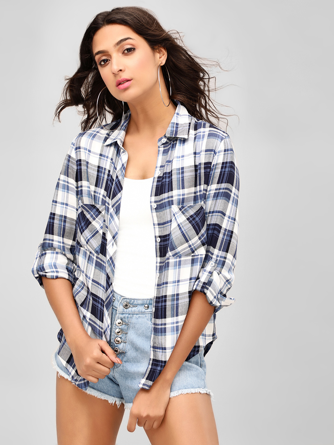 Sbuys Multi Checked Button-Up Shirt 1