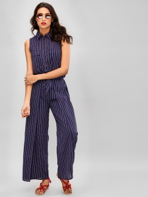 SBUYS Stripe Wrap Front Trouse...