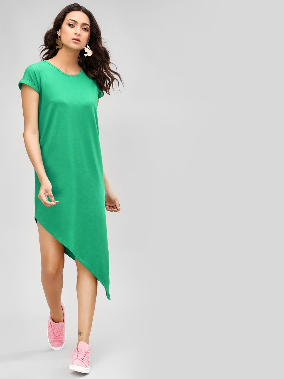 KOOVS Amazon Basic Asymmetric Hem Dress 1