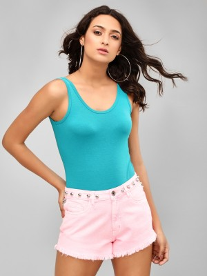 KOOVS Scoop Neck Sleeveless Bo...