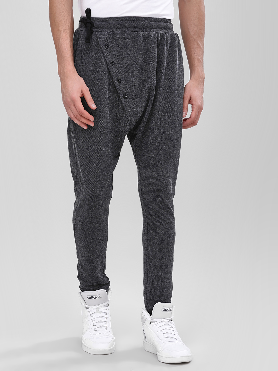 Fighting Fame Black Cross Buttoned Slim Joggers 1