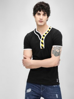 Kultprit Printed Placket Short Sleeve T-Shirt