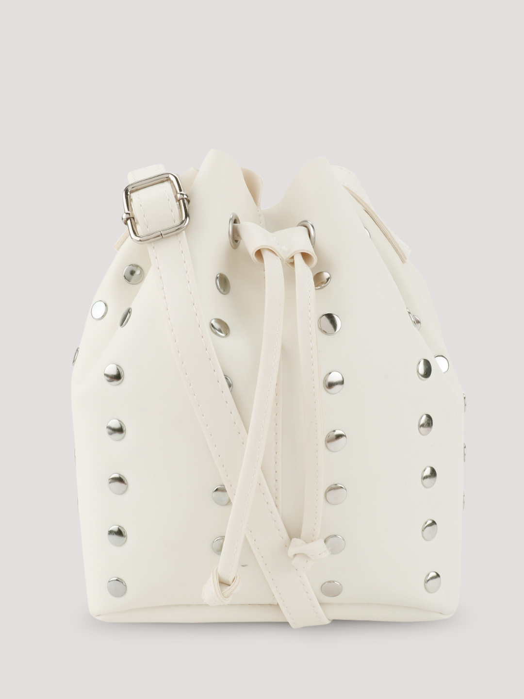New Look White Studded Bucket Sling Bag 1