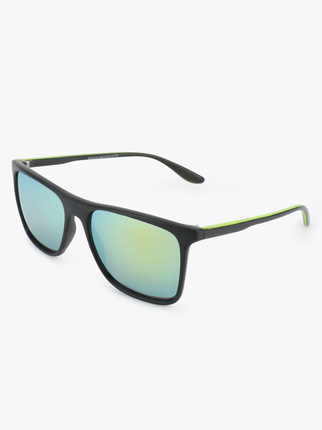 New Look Black Sports Flash Sunglasses 1