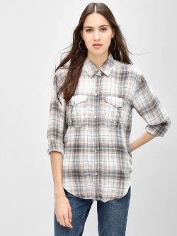 KOOVS Buttoned Pocket Check Shirt