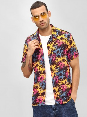 KOOVS Abstract Print Cuban Shi...