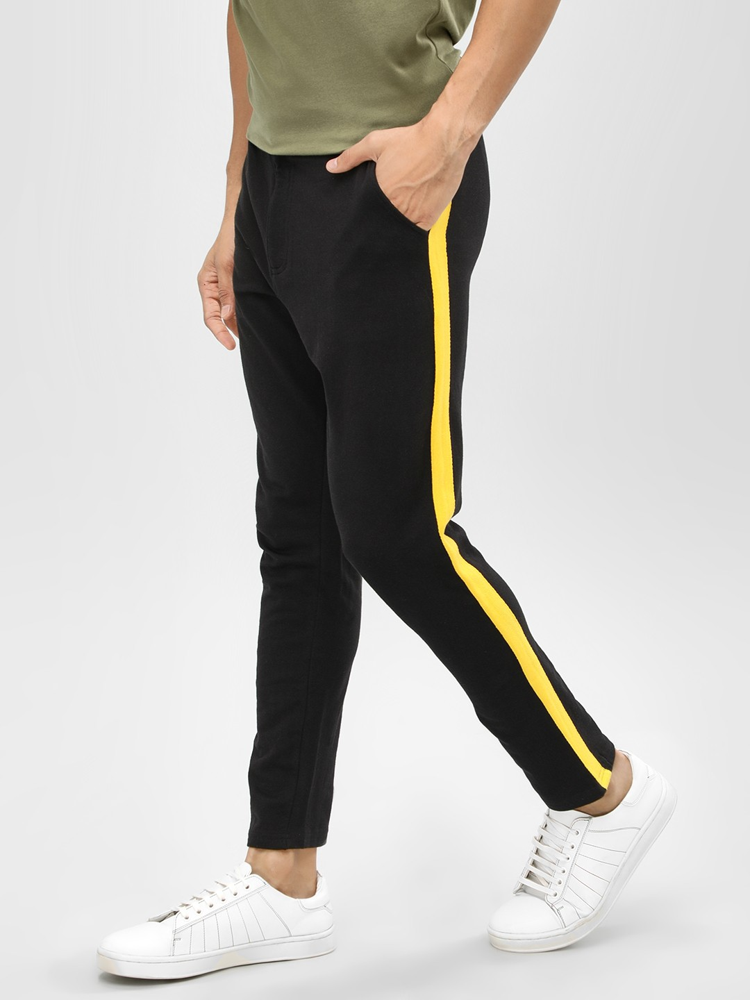 Garcon Black Contrast Side Tape Knitted Trousers 1