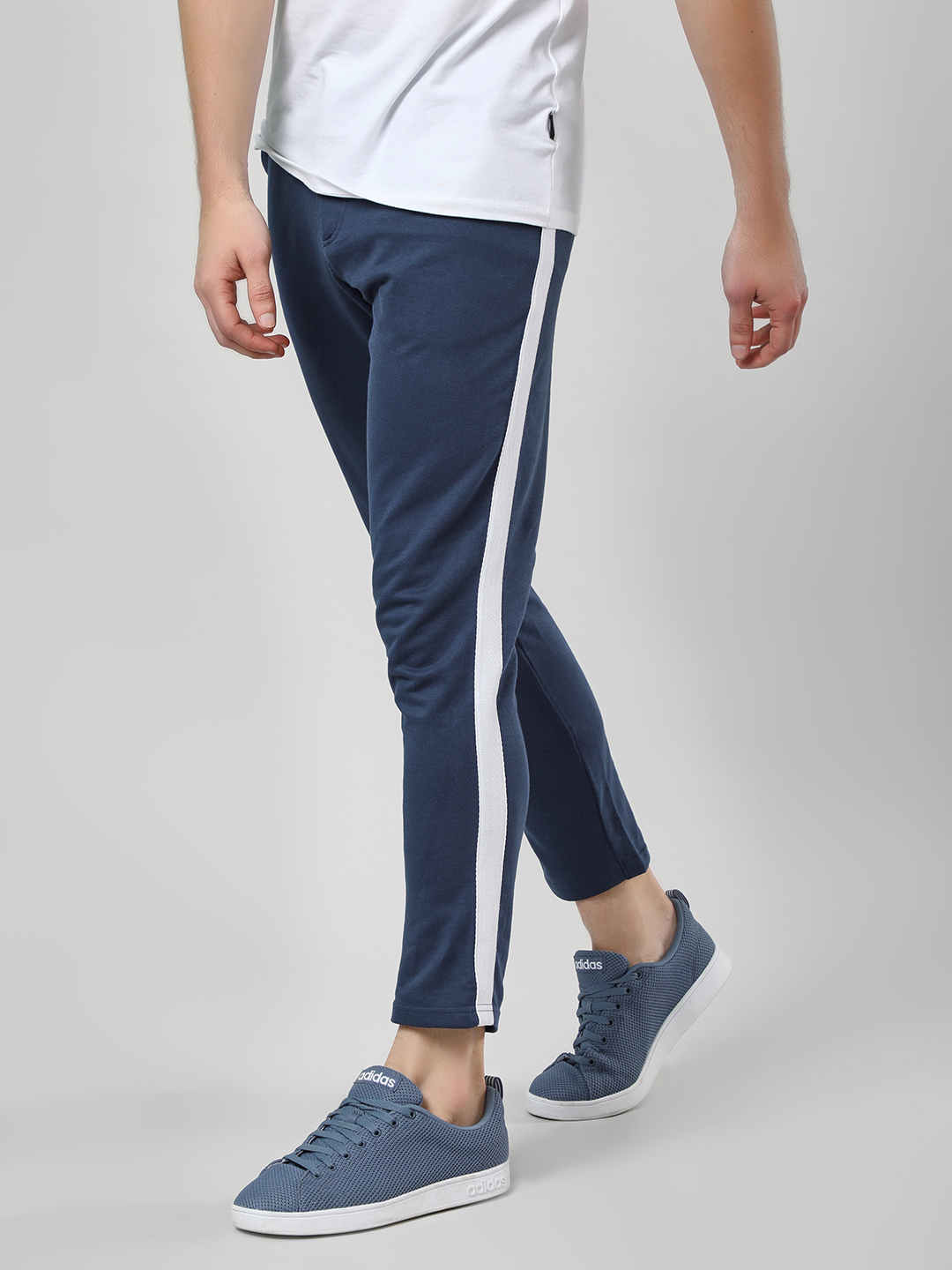 Garcon Navy Contrast Side Tape Knitted Trousers 1