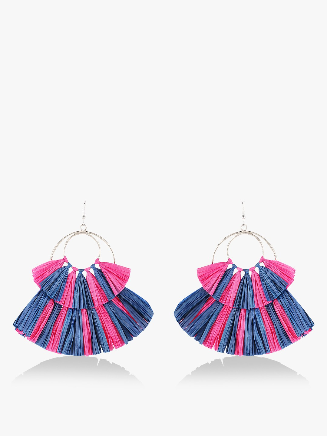 Blueberry Multi Tassel Earrings 1